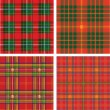 Vector pattern of seamless tartan plaid — Stock vektor