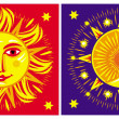 Sun and moon — Stockvector #2511013