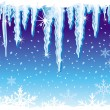 Stock Vector: Background with icicle