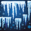 Royalty-Free Stock Imagen vectorial: Set of vector icicles for design