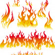Fire graphic elements — Image vectorielle