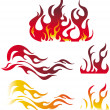 Royalty-Free Stock Vector Image: Fire graphic elements
