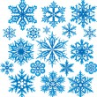 Vector set of snowflakes — Stock vektor