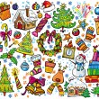 New year and christmas set - Stock Vector