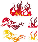 Fire graphic elements — Stock Vector