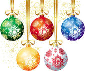 クリスマスボール — ストックベクタ