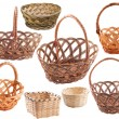 Stock Photo: Set of empty rustic wicker basket