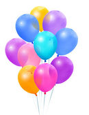 Colored balloons on a white background — Stock Photo