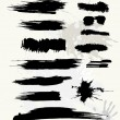 Royalty-Free Stock Imagem Vetorial: Set of grunge brush