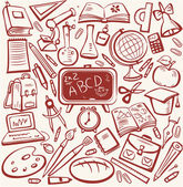 School and education sketch set — Stock Vector