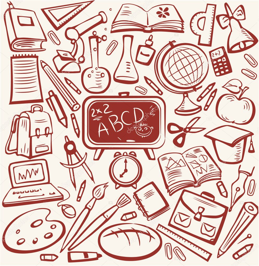 School and education sketch set — Stock Vector #2527576