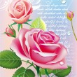 Card with roses — Vector de stock #2544382