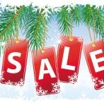 Noel satış — Stok Vektör