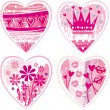 Valentine's pink heart — Stockvectorbeeld