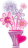 Floral's card — Vettoriale Stock