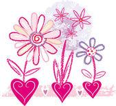 Floral's card — Stockvector