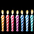 Birthday Candles — Stock Vector