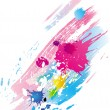 Background of paint splashes - Stock Vector