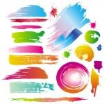 linie pinsel und farbe malen spritzwasser — Stockvektor