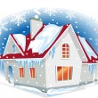 Royalty-Free Stock Vector Image: Winter house
