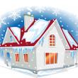 Winter house — Stock Vector
