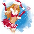 Sexy Santa girl — Stock Vector