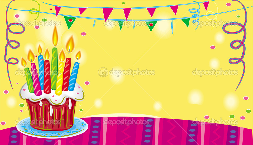 Birthday cake with candles — Stock Vector #2591330