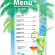 Template designs of cocktail menu — Stock Vector