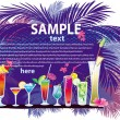 The cocktail — Stock Vector