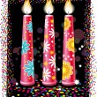 Birthday candles — Vector de stock
