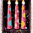 Birthday candles — Vettoriale Stock