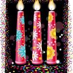 velas de cumpleaños — Vector de stock