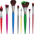 Different paintbrush — Image vectorielle