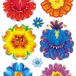 Illustration of flowers — Image vectorielle