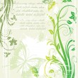 Stock Vector: Green floral background