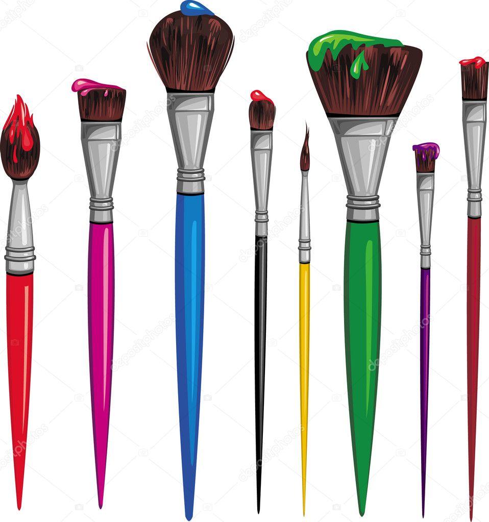 Painting Brush Strokes Process