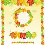 cornice colorata da foglie di acero — Vettoriale Stock