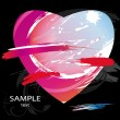 Royalty-Free Stock Imagen vectorial: Heart from color splashes