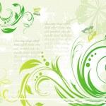 Grunge green background — Stock Vector