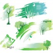 Green design elements — Stock Vector