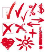 Vektorové rukopisné značky — Stock vektor