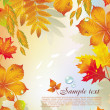 Background from autumn leaves — Vector de stock