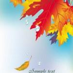 sfondo foglie d'autunno — Vettoriale Stock