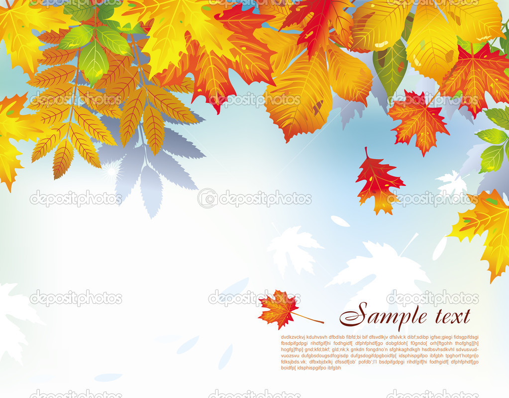 Colorful background from autumn leaves  Imagen vectorial #2643539