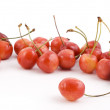 Stock Photo: Cherries on white background