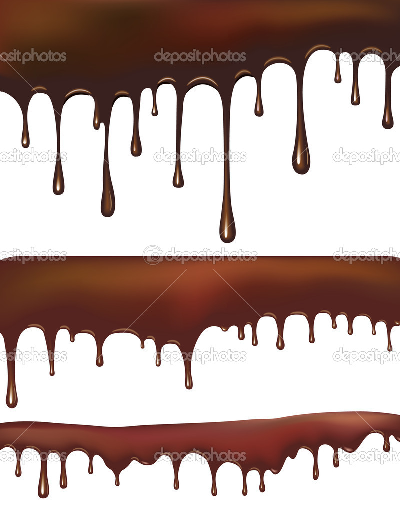 Set of chocolate drips — Stock Vector #2664193