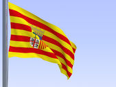 Aragon flag — Stock Photo