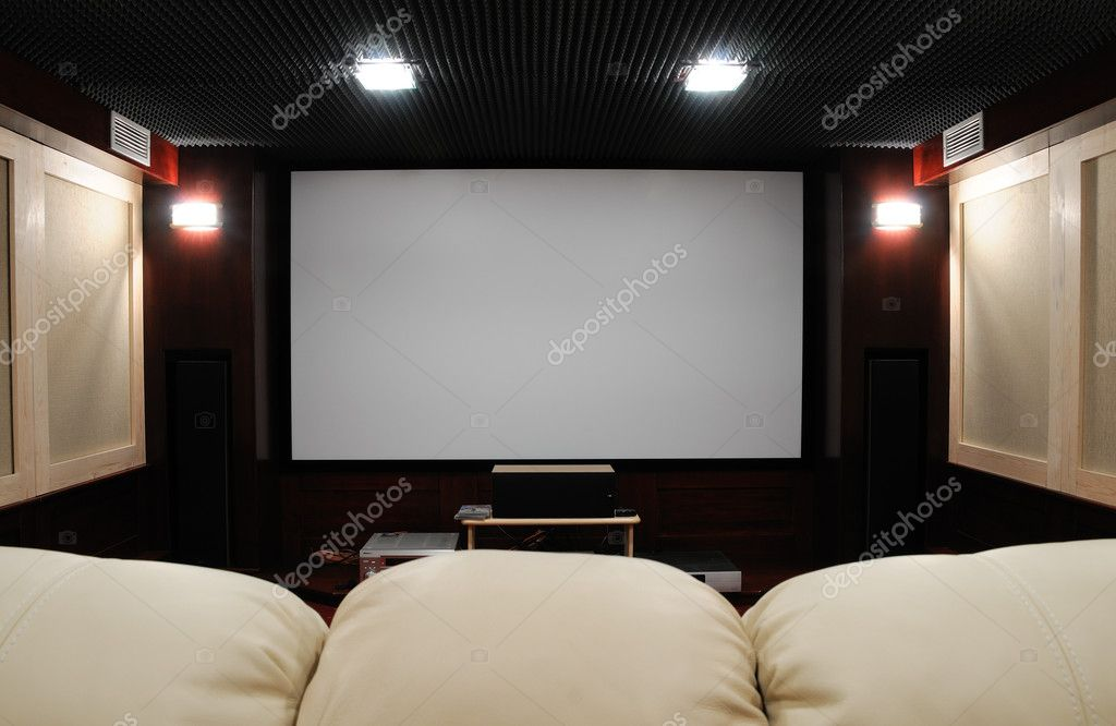 Soundproof home theater in home cellar — Stock Photo #2426239