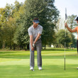Friend playing golf in golf — Foto de Stock