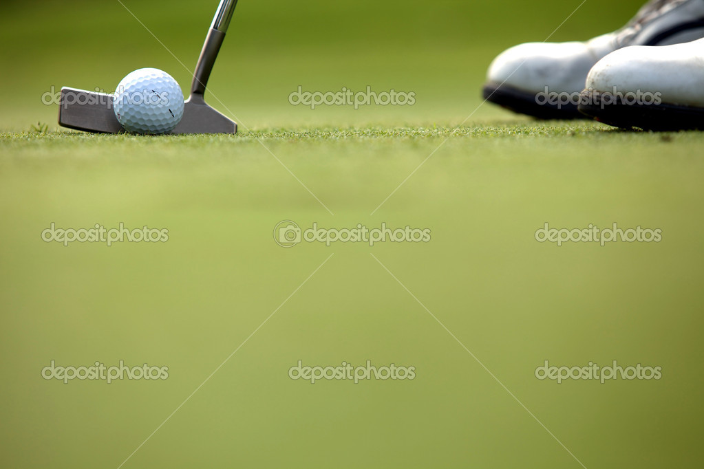 Person playing golf, low section — Stock Photo #2419846